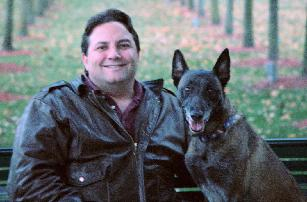 Michael Burkey and Police K9 Draco (ret.)
